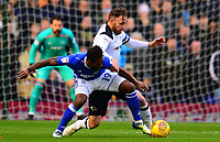 Jacques Maghoma of Birmingham battles with Chris Martin of Derby during the Sky Bet Championship match between Birmingham City and Derby County at St Andrews, Birmingham, England on 13 January 2018. Photo by Bradley Collyer / PRiME Media Images.