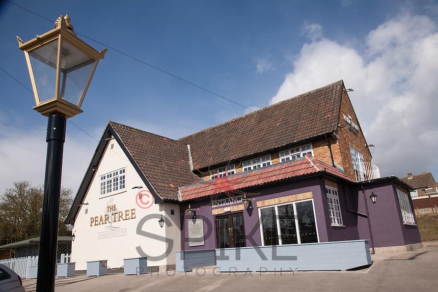 The newly refurbished Pear Tree pub, (formerly the Fairway) in Keyworth