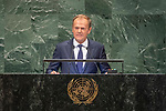 LOS general debate &ndash; 27 September<br /> <br /> PM<br /> <br />  His Excellency Donald Tusk, President of the European Council, European Union