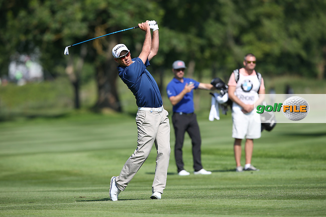 Jaco Van Zyl (RSA) playing down the 18th during Round Two of the 2015 BMW International Open at Golfclub Munchen Eichenried, Eichenried, Munich, Germany. 26/06/2015. Picture David Lloyd | www.golffile.ie