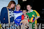 FUN: Enjoying the Birds Amusements on Wednesday evening and going home wilh lots of cudley toys l-r: Samanta Murphy (Knocknagoshel), Holly O'Brien (Tralee), Conor and Mary Teahan (Duagh).