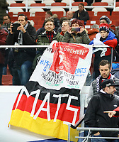 Fans von Mats Hummels (Deutschland Germany) - 15.11.2018: Deutschland vs. Russland, Red Bull Arena Leipzig, Freundschaftsspiel DISCLAIMER: DFB regulations prohibit any use of photographs as image sequences and/or quasi-video.