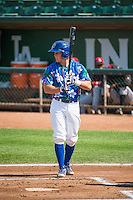 Gage Green (21) of the Ogden Raptors at bat against the Billings Mustangs in Pioneer League action at Lindquist Field on August 16, 2015 in Ogden, Utah. Billings defeated Ogden 6-3.  (Stephen Smith/Four Seam Images)