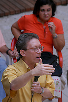 Jornalista Lúcio Flávio Pinto durante a homenagem.<br /> <br /> Comemoração pelos 20 anos do jornal Pessoal do jornalista Lúcio Flávio Pinto na UFPa.<br /> Belém, Pará, Brasil.<br /> 2008<br /> Foto Paulo Santos