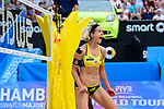 26.08.2017, Hamburg, Stadion Am Rothenbaum<br />Beachvolleyball, World Tour Finals<br /><br />Jubel Laura Ludwig (#1 GER)<br /><br />  Foto © nordphoto / Kurth
