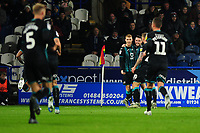Jay Fulton of Swansea City celebrates scoring the opening goal during the Sky Bet Championship match between Huddersfield Town and Swansea City at The John Smith's Stadium in Huddersfield, England, UK. Tuesday 26 November 2019