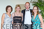Carmel Smith Eimear Corridon Kevin Smith and Linda Murphy at the Kerry Stars ball in the Malton Hotel on Friday night