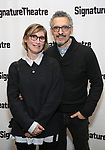 Katherine Borowitz and John Turturro attend the Off-Broadway Opening Night of the Signature Theatre's 'Thom Pain' at the Signature Theatre on November 11, 2018 in New York City.