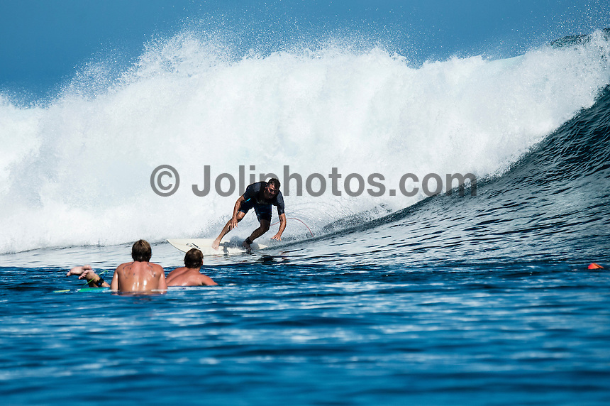 Namotu Island Resort, Namotu, Fiji. (Tuesday May 13, 2014) –  The swell was in the 2'-3' range today with light winds. There were sessions at  Namotu Lefts, Swimming Pools,  and Cloudbreak around the tides.  Photo: joliphotos.com