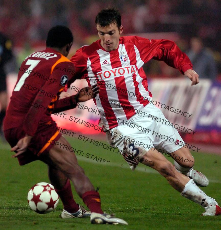 fudbal,UEFA  KUP , Sezona 2005/2006&amp;#xA;CRVENA ZVEZDA-ROMA&amp;#xA;ALEKSANDAR LUKOVIC&amp;#xA;BGD, 01.12.2005.&amp;#xA;FOTO: SRDJAN STEVANOVIC<br />