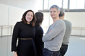 Scottish Ballet Artistic Director Christopher Hampson with Scottish Dance Theatre Artistic Director Fleur Darkin at the Tramway (Scottish Ballet base in Glasgow) - picture by Donald MacLeod - 08.10.12 - 07702 319 738 - clanmacleod@btinternet.com - www.donald-macleod.com