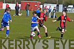 St Brendan's Park's Eoin Lynch and Killarney Athletic's Blake Bolster...