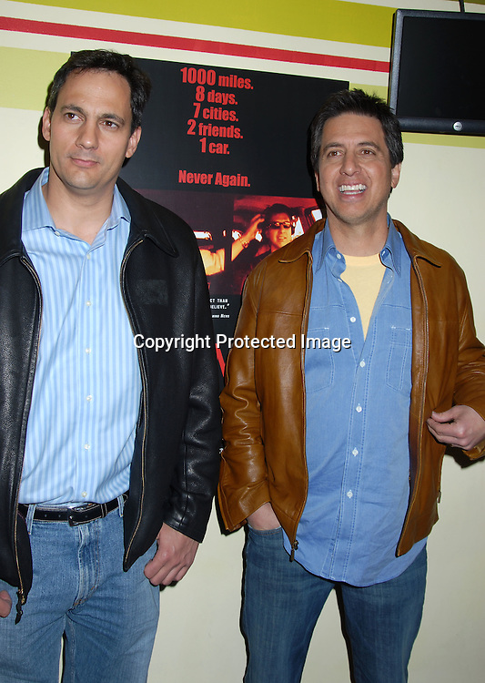 "Tom Caltabiano and Ray Romano ..at The New York Screening of "" 95 Miles to Go"" starring..Ray Romano and Tom Caltabiano on March 29, 2006 at ..The ImaginAsian Theatre. ..Robin Platzer, Twin Images"