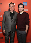 """Timothy J. McClimon and Kyle McArthur during the Sneak Peak Meet the cast and creative team of the World Premiere Musical """"Superhero"""" on January 16, 2019 at the Green Room 42 in New York City."""
