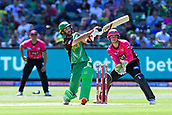 10th February 2019, Melbourne Cricket Ground, Melbourne, Australia; Australian Big Bash Cricket, Melbourne Stars versus Sydney Sixers;  Glenn Maxwell of the Melbourne Stars plays the ball through the on side