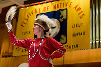 2003 Festival of Native Arts, Fairbanks, Alaska. This elaborate three day event was started in 1973, and has grown each year to become one of the interior's greatest celebrations of Alaska Native culture.