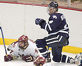 Joe Rooney, Craig Switzer - The Boston College Eagles and University of New Hampshire earned a 3-3 tie on Thursday, March 2, 2006, on Senior Night at Kelley Rink at Conte Forum in Chestnut Hill, MA.  Boston College honored its three seniors, captain Peter Harrold and alternate captains Chris Collins and Stephen Gionta, before the game.