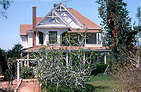 "Redlands CA: Davis House, 916 W. Olive.  ""Queen Anne with a sense of Tudor"".  Photo '87."