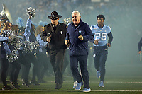 CHAPEL HILL, NC - NOVEMBER 02: Head coach Mack Brown of the University of North Carolina during a game between University of Virginia and University of North Carolina at Kenan Memorial Stadium on November 02, 2019 in Chapel Hill, North Carolina.
