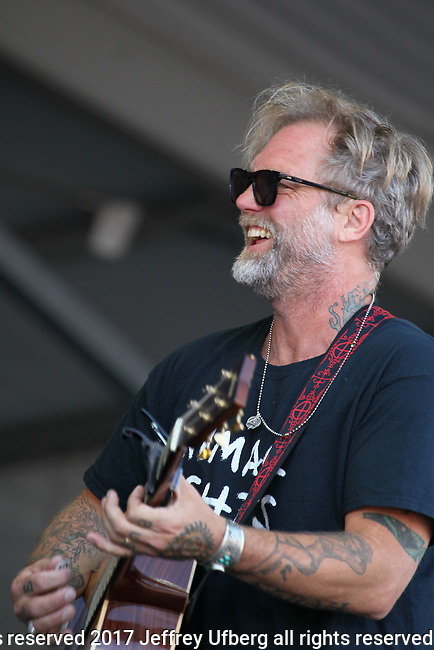 May 4, 2017 New Orleans, La: Singer/Musician Anders Osborne performs at the New Orleans Jazz & Heritage Festival on May 4, 2017 in New Orleans, La. May 5, 2017 New Orleans, La: Singer/Musician Anders Osborne performs at the New Orleans Jazz & Heritage Festival on May 5, 2017 in New Orleans, La