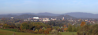 Panaromic view of the city of Charlottesville overlook view.