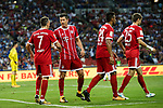 Bayern Munich Forward Thomas Muller (R) celebrating his score with his teammates during the International Champions Cup match between Chelsea FC and FC Bayern Munich at National Stadium on July 25, 2017 in Singapore. Photo by Marcio Rodrigo Machado / Power Sport Images