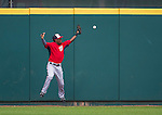 12 March 2014: Washington Nationals outfielder Eury Perez is unable to pull in a fly ball during a Spring Training game against the Houston Astros at Osceola County Stadium in Kissimmee, Florida. The Astros rallied in the bottom of the 9th to edge out the Nationals 10-9 in Grapefruit League play. Mandatory Credit: Ed Wolfstein Photo *** RAW (NEF) Image File Available ***