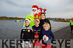 Enjoying the Santa 5km run in memory of Fiona Moore in aid of Heart Children Ireland at the Tralee Wetlands were l-r  Ben Murphy, Harry Murphy, Jack Murphy, back Benny Murphy and Clare Murphy.