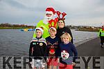 Enjoying the Santa 5km run in memory of Fiona Moore in aid of Heart Children Ireland at the Tralee Wetlands were l-r  Ben Murphy, Harry Murphy, Jack Murphy, back Benny Murphy and Clare Murphy.