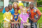 Pictured at ' Africa Day in the CBS primary' on Friday. Emmanuel Okojie,Diana Ogualiri, Alison McEvoy. Back row - Dezire(African drummer), Shirley McEvoy(parent), Elaine Drumm(Teacher) and Sam(African drummer).