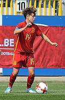 20170408 - EUPEN ,  BELGIUM : Spanish Amanda Sampedro  pictured during the female soccer game between the Belgian Red Flames and Spain , a friendly game before the European Championship in The Netherlands 2017  , Saturday 8 th April 2017 at Stadion Kehrweg  in Eupen , Belgium. PHOTO SPORTPIX.BE | DIRK VUYLSTEKE