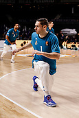 22nd March 2018, Wizink Centre, Madrid, Spain; Turkish Airlines Euroleague Basketball, Real Madrid versus Zalgiris Kaunas; Fabien Causeur (Real Madrid Baloncesto) Pre-match warm-up