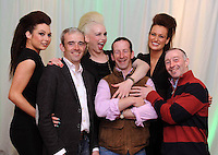 Jockeys  Ruby Walsh  and David Casey and trainer Jim Culloty with  Jennifer Lenihan, Victoria Tynan  and Mags Kelliher at the fundraising concert in aid of the Irish Injured Jockeys Fund at the Inec, Killarney on Sunday night.  Picture: Eamonn Keogh ( MacMonagle, Killarney) FREE PR PHOTO