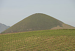 California, San Luis Obispo County: Volcanic plug near Edna Valley Vineyard, one of nine in region, called Nine Sisters..Photo caluis125-70771..Photo copyright Lee Foster, www.fostertravel.com, 510-549-2202, lee@fostertravel.com