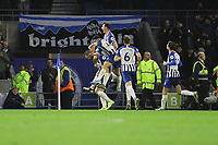 Brighton celebrate their second goal scored by Shane Duffy of Brighton & Hove Albion during Brighton & Hove Albion vs Norwich City, Premier League Football at the American Express Community Stadium on 2nd November 2019