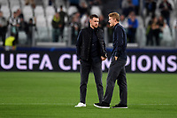 Aaron Ramsey and Matthijs de Ligt of Juventus talk before the match <br /> Torino 01/10/2019 Juventus Stadium <br /> Football Champions League 2019//2020 <br /> Group Stage Group D <br /> Juventus - Leverkusen <br /> Photo Andrea Staccioli / Insidefoto