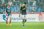 Solna 2014-08-13 Fotboll Allsvenskan AIK - Djurg&aring;rdens IF :  <br /> AIK:s Celso Borges deppar<br /> (Foto: Kenta J&ouml;nsson) Nyckelord:  AIK Gnaget Friends Arena Allsvenskan Derby Djurg&aring;rden DIF depp besviken besvikelse sorg ledsen deppig nedst&auml;md uppgiven sad disappointment disappointed dejected