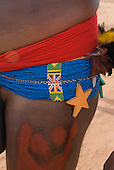 Xingu Indigenous Park, Mato Grosso State, Brazil. Aldeia Matipu (Matipu). Festival of Beja Flor (Phinya). Arifira.