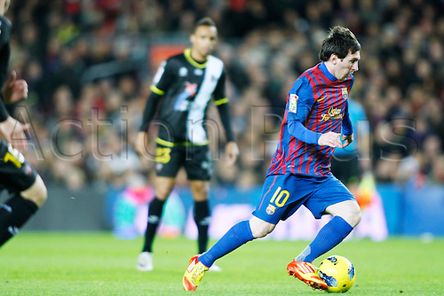 "Lionel Messi (Barcelona), DECEMBER 3, 2011 - Football / Soccer : Spanish ""Liga Espanola"" match between FC Barcelona 5-0 Levante UD at Camp Nou stadium in Barcelona, Spain."