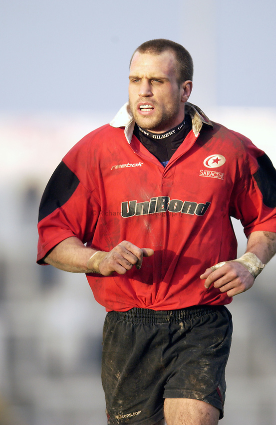 Photo. Jed Wee.Newcastle Falcons v Saracens, Parker Pen Challenge Cup, Kingston Park, Newcastle. 19/01/2003..Saracens' Tony Roques.