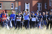 Brandon Wu (USA) on the 17th tee during Day 2 Foursomes of the Walker Cup, Royal Liverpool Golf CLub, Hoylake, Cheshire, England. 08/09/2019.<br /> Picture Thos Caffrey / Golffile.ie<br /> <br /> All photo usage must carry mandatory copyright credit (© Golffile | Thos Caffrey)