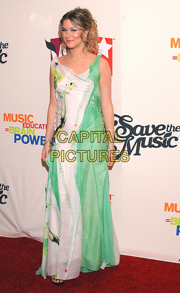 JOSS STONE.Arrivals at the VH1 Save The Music concert at the Beacon Theater in New York City. The event will benefit the Save The Music Foundation, a non-profit organization dedicated to restoring music programs in American public schools, New York, USA,.11 April 2005.full length green white printed long flowing dress .Ref: ADM.www.capitalpictures.com.sales@capitalpictures.com.©Patti Ouderkirk /AdMedia/Capital Pictures