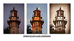 Low Resolution triptych of the Staten Island Range Lighthouse.  One picture taken before sunrise, at sunrise and one sepia toned version. Contact the photographer for purchase and pricing.