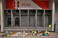 Glendale, AZ - Wednesday June 08, 2016:  Peru locker room prior to a Copa America Centenario Group B match between Ecuador (ECU) and Peru (PER) at University of Phoenix Stadium.