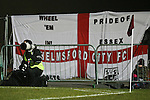 Picture by David Horn/Extreme Aperture Photography +44 7545 970036.18/02/2013.A Chelmsford City flag displayed during the Blue Square Bet Blue Square South  League match at Melbourne Stadium, Chelmsford, Essex.