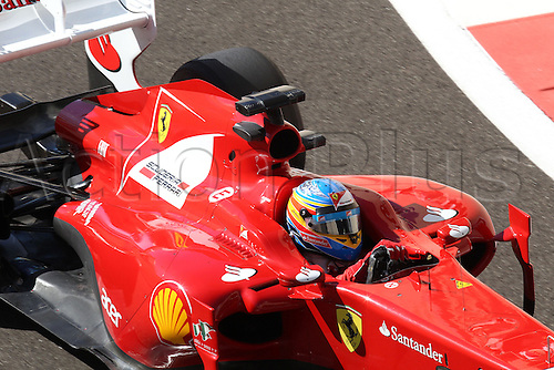 11.11.2011 Abu Dhabi, United Arab Emirates. Yas Marina Circuit, Fernando Alonso, Scuderia  Ferrari,  during the practice day of the FIA Formula One Grand Prix of Abu Dhabi UAE.