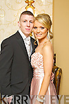 DEBS STYLE: Darragh O'Brien and Una Nolan pictured at the Mounthawk debs at the Abbeygate Hotel on Thursday night.