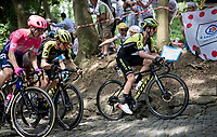 Adam Yates (GBR/Mitchelton-Scott) up the infamous Muur van Geraardsbergen<br /> <br /> Stage 1: Brussels to Brussels(BEL/192km) 106th Tour de France 2019 (2.UWT)<br /> <br /> ©kramon