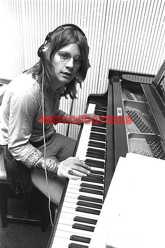 Black Sabbath 1970 Ozzy Osbourne at Regents Sounds during Paranoid sessions<br /> &copy; Chris Walter