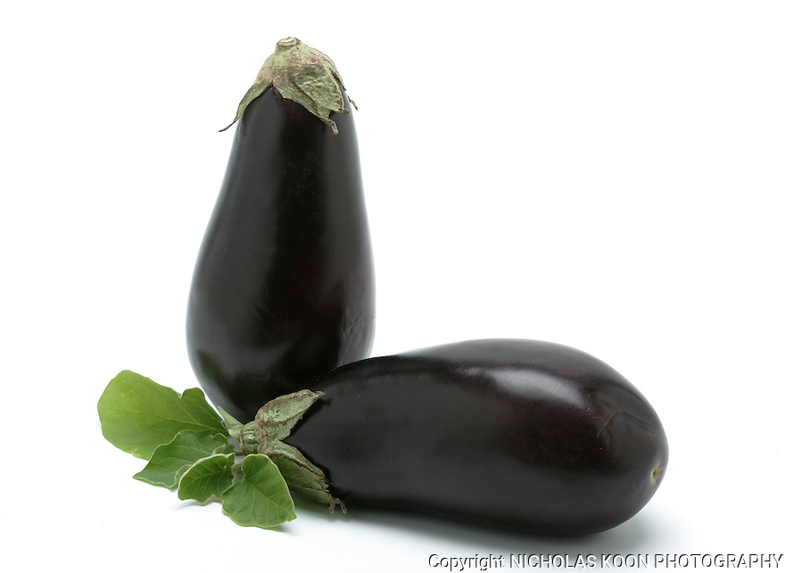 Eggplant still life.